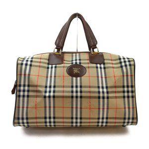AUTHENTIC Burberrys Boston Bag big capacity Beiges